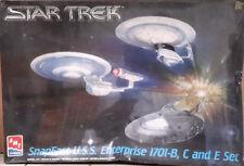 Vintage STAR TREK Enterprise B,C,E 3 Ship Set Model Kit-AMT-FREE S&H(STMO-8002)