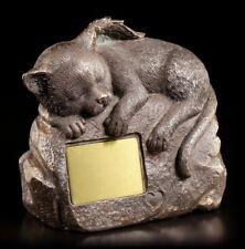 Katzen Urne mit Katzen Figur und Gravurplatte - Tierurne