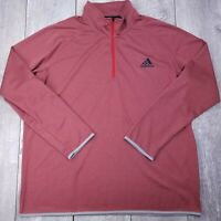 Adidas Climacrew 1/4 Zip Lightweight Pull Over Mens XXL 2XL Red Long Sleeve SW32