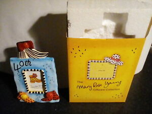 MARY ROSE YOUNG Collectable designer ceramic  Photo Frame 40th Birthday. New