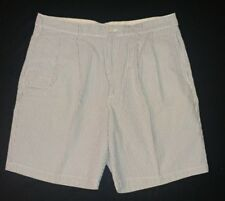BROOKS BROTHERS 346 Mens Blue Stripe Seersucker Shorts~Size 38~pleated