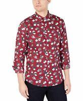 Michael Kors Mens Shirt Red Size S L XL 2XL Floral Print Slim Fit Button Up $98
