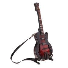 1/6 Music Instrument Wood Guitar Model Dollhouse Decor Action Figures Crafts