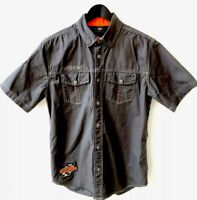 Harley Davidson Screaming Eagle Embroidered Button Up Shirt Men's Size Small