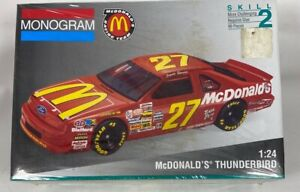 NASCAR McDonalds Jimmy Spencer Ford Thunderbird Model Kit Sealed 1:24