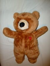 HOUSE OF LLOYD STUFFED PLUSH TALK TO ME TEDDY BEAR BROWN RED HEART DOES NOT WORK