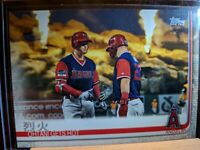 2019 Topps Series 2  # 367 Ohtani Gets Hot With Mike Trout ERROR Card