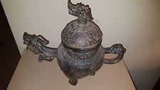 Chinese archaic style Bronze Dragon Teapot