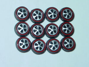 Hot Wheels Redline Red Line US WHEEL TIRE Lot of 12 SMALL Bearing Style -NEW!