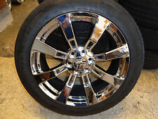 "22"" Chrome Cadillac Escalade Wheels Rims Tires Tahoe Sierra Silverado CK375"
