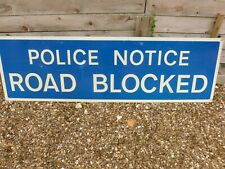 More details for large police road sign police notice road blocked