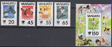 VANUATU 1988 OLYMPIC GAMES SET & MINATURE SHEET MINT NEVER HINGED