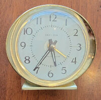 VINTAGE ANTIQUE BABY BEN WESTCLOX WIND UP ALARM CLOCK WORKS