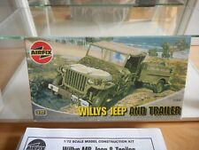 Modelkit Airfix Willys Jeep and Trailer on 1:72 in Box