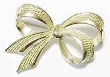 Signed MARCEL BOUCHER Numbered Gold Tone Ribbon Bow # MX 646 BROOCH PIN