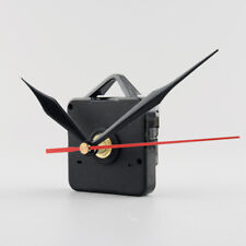Silent Clock Quartz Movement Mechanism Black and Red Hands Kit Tool Set