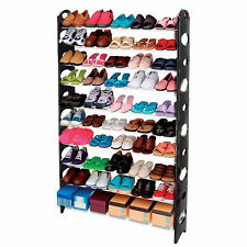 S-106 10 Tiers 50 Pairs Big Size XL Shoe Storage Rack Organiser Shelf Space Save
