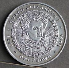 More details for falkland islands.elizabeth ii one ounce sterling silver crown, 2007. elizabeth i