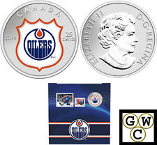 2014 'Edmonton Oilers - NHL Hockey' Colorized 25-Cent Coin & Stamp Set (13315)