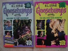 Goosebumps #1 The Girl who Cried Monster & #3 Welcome to Camp Nightmare PB Books
