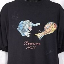 Y&T Concert T Shirt Vintage SIGNED 2001 Reunion Meniketti Kennemore Haze Size XL