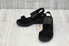 **Skechers Rumblers Sci Fi Wedge Sandals - Women's Size 6 - Black