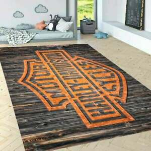 Harley Davidson New  Rug, Fan Carpet Non Slip Floor Carpet,Teen's Rug,Kids Rug