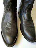 Nocona Boots Men Sz: 11 D Black Cowboy Boots Western Cut Soft Leather TX USA