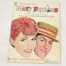 SONGS FROM DISNEY'S MARY POPPINS Piano -Hansen 1964 songbook + Showtime Brochure