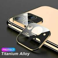 For iPhone 11 Pro Max Camera Lens Screen Metal Tempered Glass Film Protector