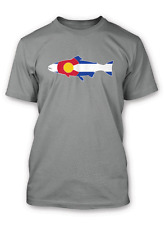 Rep Your Water Colorado Flag Tee Shirt - XX Large - Storm Gray