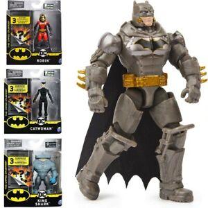 PERSONAGGIO BATMAN 10 CM DC BATMAN THE CAPED CRUSADER CON 3 ACCESSORI SPIN MASTE