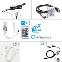 USB Remote Control for 5050 3528 RGB LED Strip Light DC 5V USB Powered Cable 1M