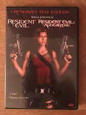 RESIDENT EVIL/RESIDENT EVIL APOCALYPSE  (DVD, 2007, 2-Disc Set)