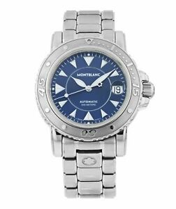 Montblanc Meisterstuck Automatic 38mm Blue Dial Stainless Steel Men's Watch