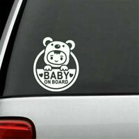 For Auto Car/Window WHITE Baby On Board Vinyl Decal Sticker Decals Decor