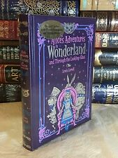 Alice'S Adventures Wonderland & Through Looking Glass- Lewis Carroll Leather New