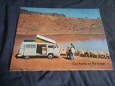 1970 VW Volkswagen Westfalia Campmobile USA Market Brochure Catalog Prospekt
