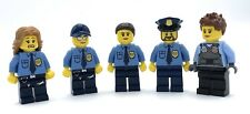 LEGO 5 NEW POLICE OFFICERS MINIFIGURES FIGURES POLICE MEN AND POLICE WOMEN