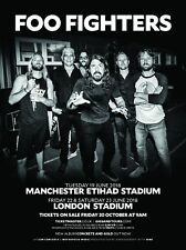 FOO FIGHTERS 2018 EUROPEAN TOUR MANCHESTER & LONDON PROMO POSTER