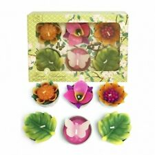 Scented Forest Flower Tealights Tea Light Candles - Pack of 6. Fair Trade