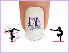 Nail Art #3082 SPORTS LOVE Gymnastics 2 Pink WaterSlide Nail Decals Transfers