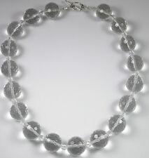 Statement Crystal Quartz Necklace Sterling Silver handmade Wedding Jewelry