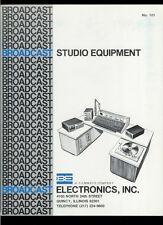 Rare 1977 Broadcast Electronics BE Spotmaster Filmways Studio Equipment Catalog
