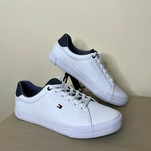 Tommy Hilfiger Men's Shoes Sneakers White Low Top Casual TMRef Size 8 New