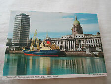 "VINTAGE COLOUR POSTCARD , ""LIBERTY HALL, CUSTOMS HOUSE AND RIVER LIFFEY, DUBLIN"