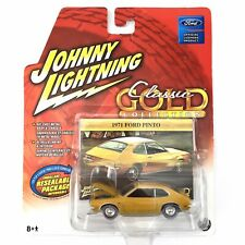 Johnny Lightning 71 1971 Ford Pinto Die Cast Car 1/64 Rubber Tires Classic Gold