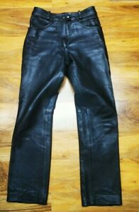 Richa LADIES biker Classic Motorcycle Genuine Leather Trousers jeans Size Uk12
