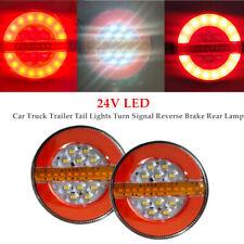 2×4''24V LED Car Truck Trailer Tail Lights Turn Signal Reverse Brake Rear Lamp