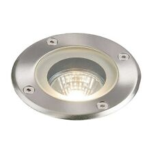 Saxby Pillar Stainless Steel Gu10 Round Outdoor Walk Over Ground Light Ip65